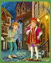 The fairy tale beautiful manga style illustration for the children beautifuly drawn colorful tales Stock Photos