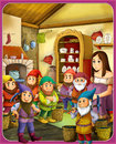 The fairy tale beautiful manga style illustration for the children beautifuly drawn colorful tales Stock Images
