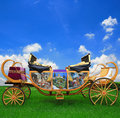 Fairy tale carriage background for design Royalty Free Stock Photo