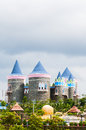 A fairy tale castle colorful interesting Royalty Free Stock Image