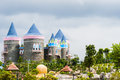 A fairy tale castle colorful interesting Royalty Free Stock Photos