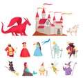 Fairy Tale Characters Icons Set