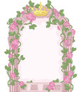 Fairy tale frame romantic floral Stock Images