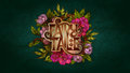 Fairy Tale lettering decorated with colorful flowers and leaves Royalty Free Stock Photo