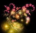 Fairy-tale luminous bouquet Royalty Free Stock Photos
