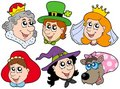 Fairy tale portraits collection Royalty Free Stock Photo