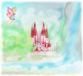 Fairy tale princess castle magic Royalty Free Stock Image
