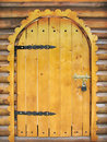 Fairy tale wooden door Stock Images