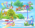 Fairy Tale World with Floating Islands in the Sky Royalty Free Stock Photo