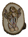 Fairy on wood Stock Photo