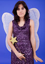 Fairy young beautiful woman dressed as tinkerbell studio picture Royalty Free Stock Photo