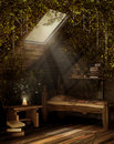 Fairytale attic room Royalty Free Stock Photography