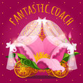 Fairytale carriage from Princess made of flower Royalty Free Stock Photo