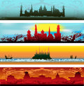 Fairytale Castle Web Banners Royalty Free Stock Image