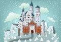 Fairytale castle in winter