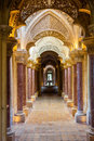 Fairytale corridor of Monserrate Palace Royalty Free Stock Photos