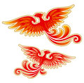 Fairytale firebird illustration for best prints and other uses Royalty Free Stock Photos