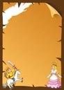 Fairytale paper frame.