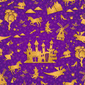 Fairytale pattern seamless with symbols Royalty Free Stock Images