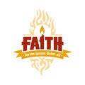 Faith Candle Vector Logo Medallion Royalty Free Stock Photo