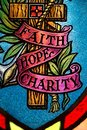 Faith hope and charity Stock Image