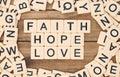 Faith, Hope and Love Royalty Free Stock Photo
