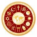 Faith map world Стоковые Изображения