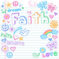 Faith Peace Dove Sketchy Doodles Vector Royalty Free Stock Photo