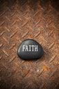 Faith Rock Rusty Background