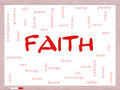 Faith word cloud concept on a whiteboard with great terms such as power worshiop spirit divine and more Stock Image
