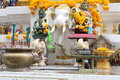 A faithfulness amarindradhiraja statue in bangkok Royalty Free Stock Photo