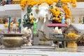 A faithfulness amarindradhiraja statue Royalty Free Stock Photo