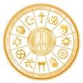 faiths many peace world Στοκ φωτογραφία με δικαίωμα ελεύθερης χρήσης