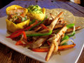 Fajitas μεξικανός κοτόπουλου Στοκ εικόνα με δικαίωμα ελεύθερης χρήσης