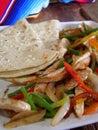 Fajitas цыпленка мексиканские Стоковые Изображения