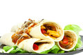 Fajitas de poulet Photo stock
