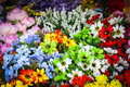Fake flower in the market many show and sell lovely mall thailand Royalty Free Stock Photo