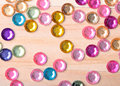 Fake jewelry some brightly colored gems Royalty Free Stock Images
