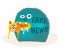 Fake news devours truth.