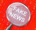Fake News Magnifier Means Distorted Truth 3d Illustration
