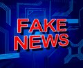 Fake News Means Misleading Falsehood 3d Illustration Royalty Free Stock Photo