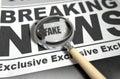 Fake News Newspaper Royalty Free Stock Photo