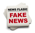 Fake News Stack of Papers Royalty Free Stock Photo