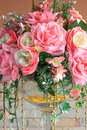 Fake pink roses for home decoration for beauty Stock Images