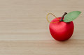 Fake red Cherry on Wood Royalty Free Stock Photo