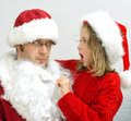 Fake Santa Claus. Royalty Free Stock Photo