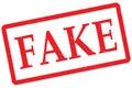 Fake stamp Royalty Free Stock Photo