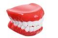 Fake teeth on white background Royalty Free Stock Photos