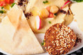 Falafel and hummus Stock Photo