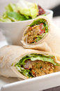 Falafel pita bread roll wrap sandwich traditional arab middle east food Royalty Free Stock Photo